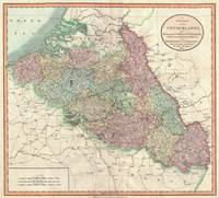 Vintage Map of Belgium & Luxembourg (1804)