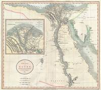 Vintage Map of Egypt (1805)
