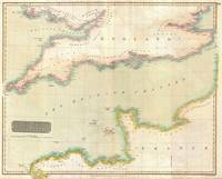 Vintage Map of The English Channel (1814)