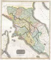 Vintage Map of Tuscany Italy (1814)