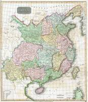 Vintage Map of China (1815)