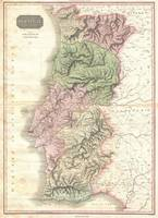 Vintage Map of Portugal (1818)