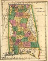 Vintage Map of Alabama (1822)