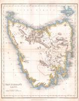 Vintage Map of Tasmania (1837)
