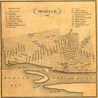 Vintage Map of Mobile Alabama (1840)