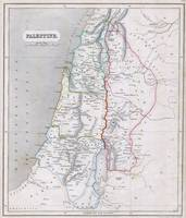 Vintage Map of Palestine (1845)