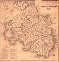 Vintage Map of Charleston South Carolina (1849)