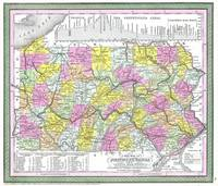 Vintage Map of Pennsylvania (1850)