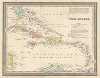 Vintage Map of The Caribbean (1850)