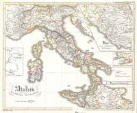 Vintage Map of Italy (1850)