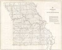 Vintage Map of Missouri (1850)