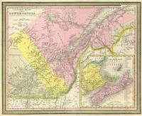 Vintage Map of Eastern Canada (1850)