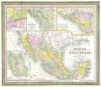 Vintage Map of Mexico (1850)