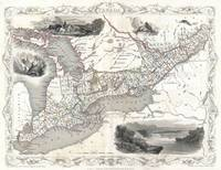 Vintage Map of Ontario Canada (1850)