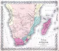Vintage Map of Southern Africa (1855)