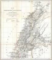 Vintage Map of Lebanon (1856)