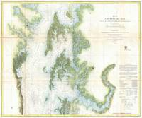 Vintage Map of The Chesapeake Bay (1857)