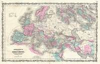 Vintage Map of The Roman Empire (1862)