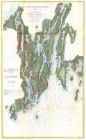 Vintage Kennebec and Sheepscot River Map (1862)