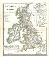 Vintage Map of The British Isles (1865)