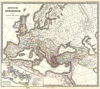 Vintage Map of The Roman Empire (1865)