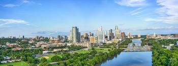 Austin Skyline Panorama View