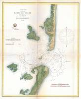Vintage Map of The Barnegat Inlet (1865)
