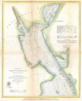 Vintage Port of Providence Rhode Island Map (1865)