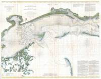 Vintage Map of The Mississippi Sound (1866)