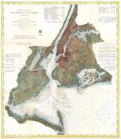 Vintage Map of New York City Harbor (1866)