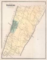 Vintage Map of Yonkers New York (1867)