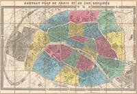 Vintage Map of Paris France (1867)