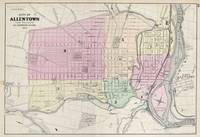 Vintage Map of Allentown Pennsylvania (1872)