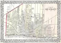 Vintage Map of Detroit Michigan (1872)