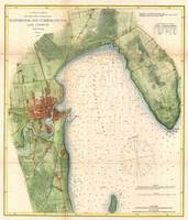 Vintage Map of Plattsburgh New York (1872)