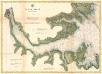 Vintage Map of The Neuse River (1874)
