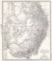 Vintage Map of Eastern Australia (1876)