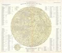 Vintage Map of The Moon (1880)