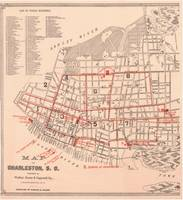 Vintage Map of Charleston South Carolina (1890)