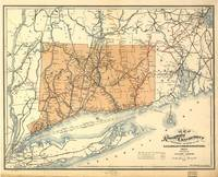 Vintage Connecticut Railroad Map (1893)
