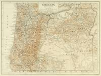 Vintage Map of Oregon (1911)