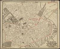 Vintage Map of Downtown Boston MA (1911)
