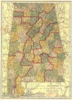 Vintage Map of Alabama (1911)