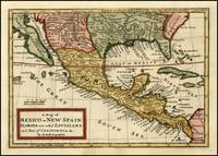 Vintage Map of Mexico (1708)