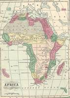 Vintage Map of Africa (1872)