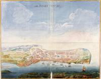 Vintage Pictorial Map of Macau China (1665)
