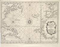 Vintage Map of The Atlantic Ocean (1746)