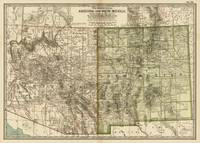 Vintage Map of Arizona and New Mexico (1899)