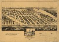 Vintage Pictorial Map of Asbury Park NJ (1881)