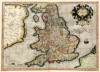 Vintage Map of England (1596)